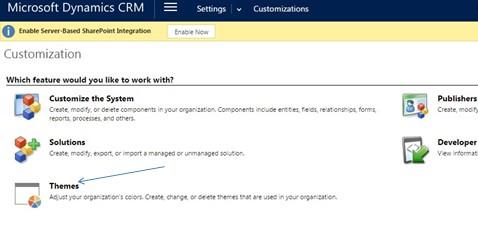 settings customizations themes